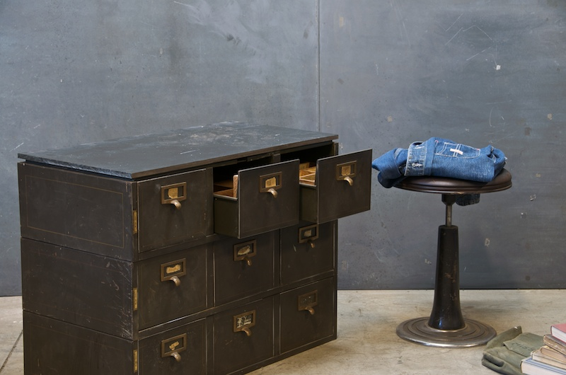 Nove Vintage Steel Atelier Artist Cabinet