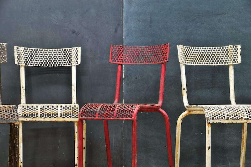 French Industrial R. Malaval Chairs