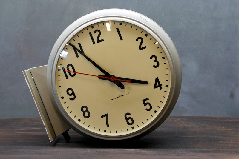 Vintage Train Station Clock Double Sided