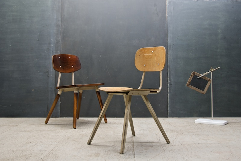 Exceptionnel French Vintage Industrial School Chair