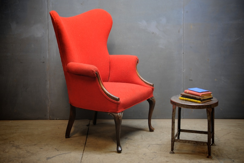 Danish Wingback Library Chair