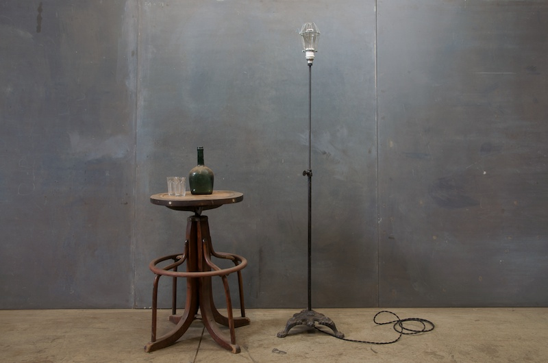 Industrial Vintage Cast Iron Floor Lamp | Modern50 | A Non-Linear ...