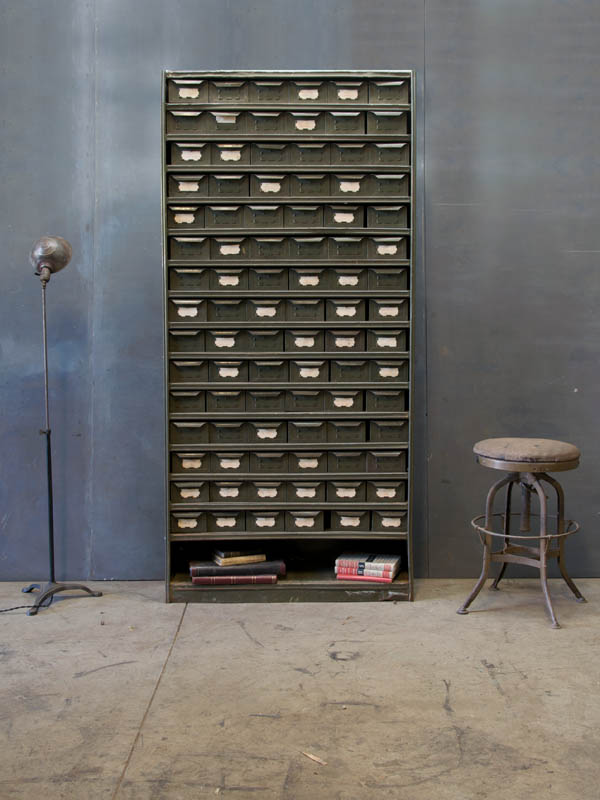 Old Industrial Infinite Drawer Cabinet