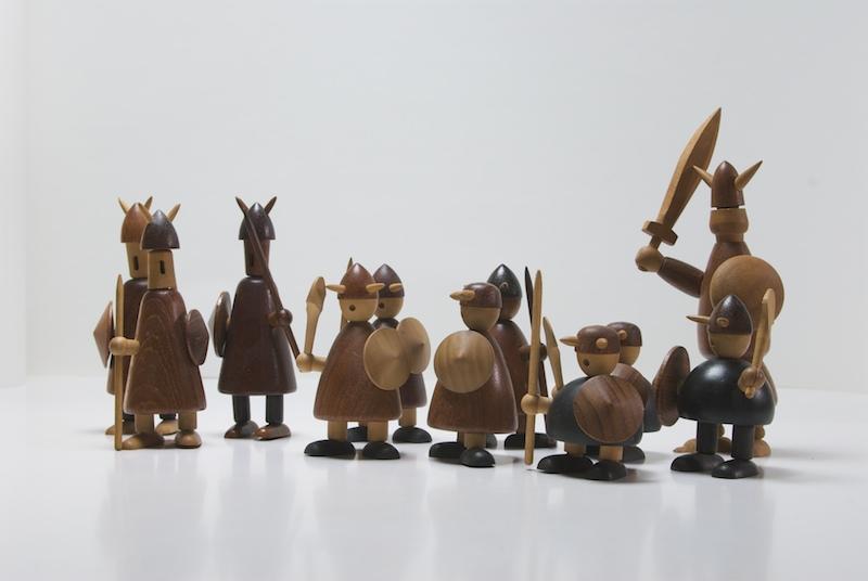 Bojesen Wooden Viking Figures Modern50 A Non Linear Design