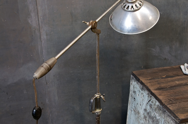 Iron Industrial Articulate Floor Lamp : 20th Century Vintage ...