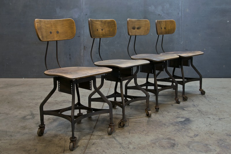 Vintage toledo industrial drafting chairs modern50 mod50 retail
