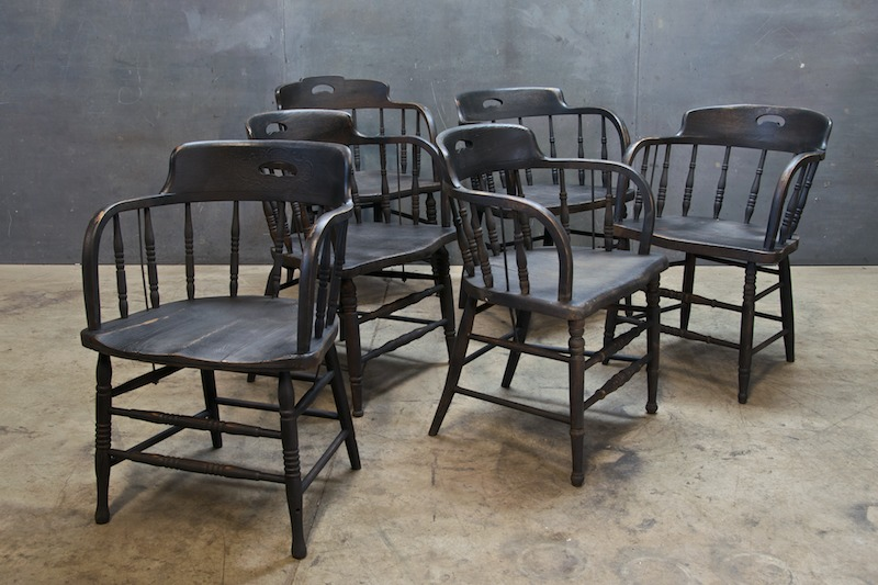 Vintage St Michaels Wood Tavern Chairs