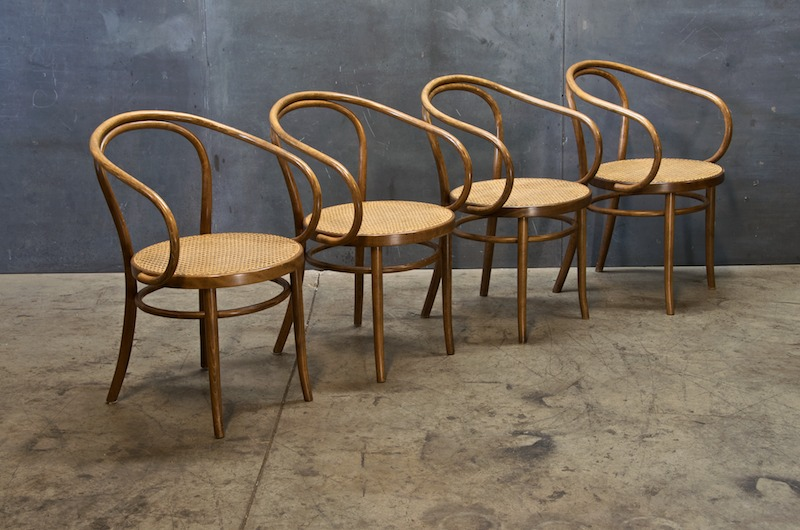 Superbe Old Bentwood And Cane NYC Cafe Chairs