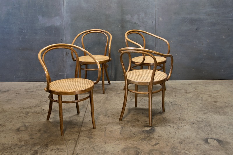 Marvelous Old Bentwood And Cane NYC Cafe Chairs
