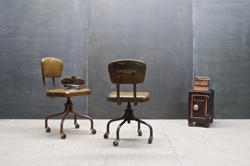 Vintage Soala Metal Office Chairs