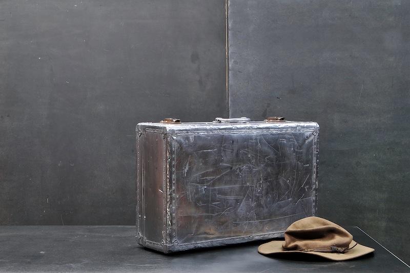 Vintage PanAm Aluminum Suitcase | Modern 50 Artist Collective Non ...